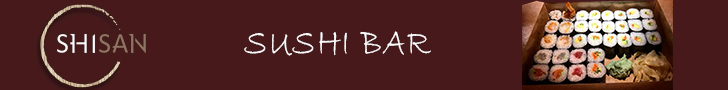Top Right Banner Ad 728x90 (Shisan Sushi Bar)