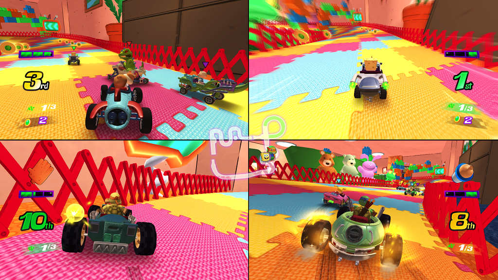 nickelodeon kart racers racing 2