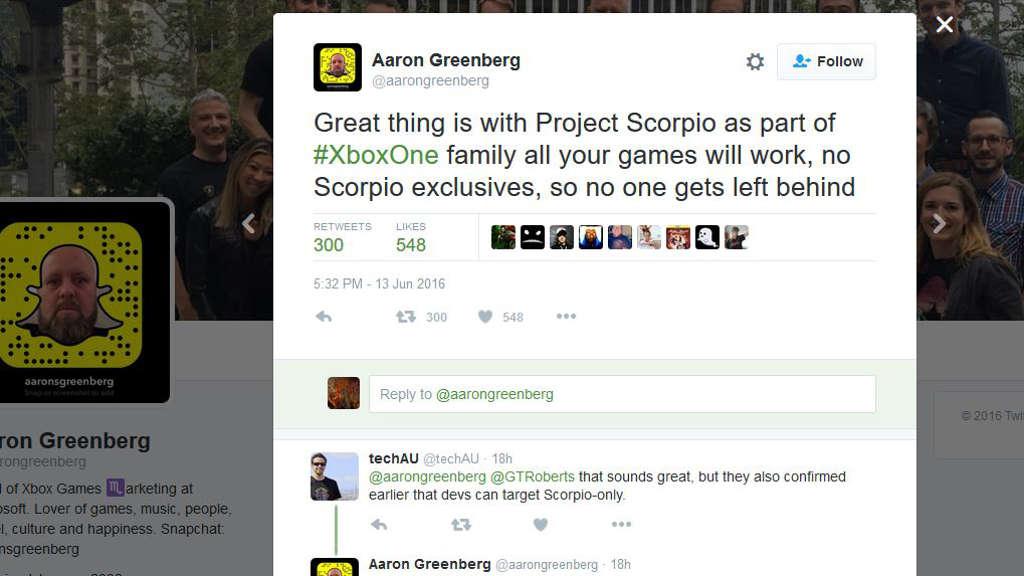 aaron-greenberg-twitter-no-scorpio-exclusives.JPG