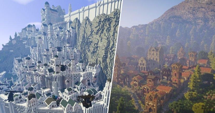 Παίκτες του Minecraft έφτιαξαν ολόκληρο τον κόσμο του Lord of the Rings