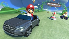 Gamers modαραν μία Mercedes για να λειτουργεί ως χειριστήριο στο Mario Kart