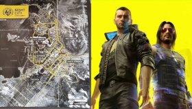 O χάρτης του Cyberpunk 2077