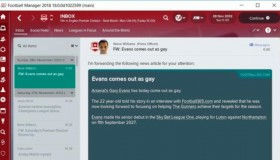 To Football Manager 2018 θα επιτρέπει σε παίκτες να ανακοινώνουν ότι είναι ομοφυλόφιλοι