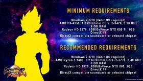 DragonBall FighterZ: Οι απαιτήσεις στα PC