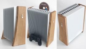 PS4 Slim κονσόλα από πέτρα και ξύλο