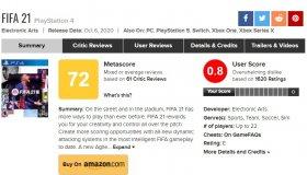Review bombing: Το FIFA 21 στο PS4 έχει 0.8/10 user score