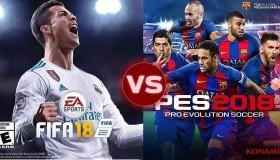 Fifa 18 vs Pro Evolution Soccer 2018