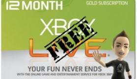 Δωρεάν συνδρομή Xbox Live Gold