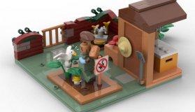 Το Untitled Goose Game σε LEGO
