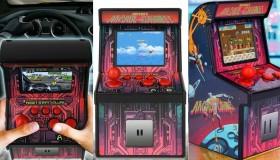 Retro Mini Arcade Video Game Rose Red